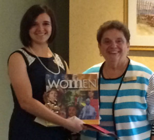 Diana Gerberich shown with Scholarship Chair Kristin Goold