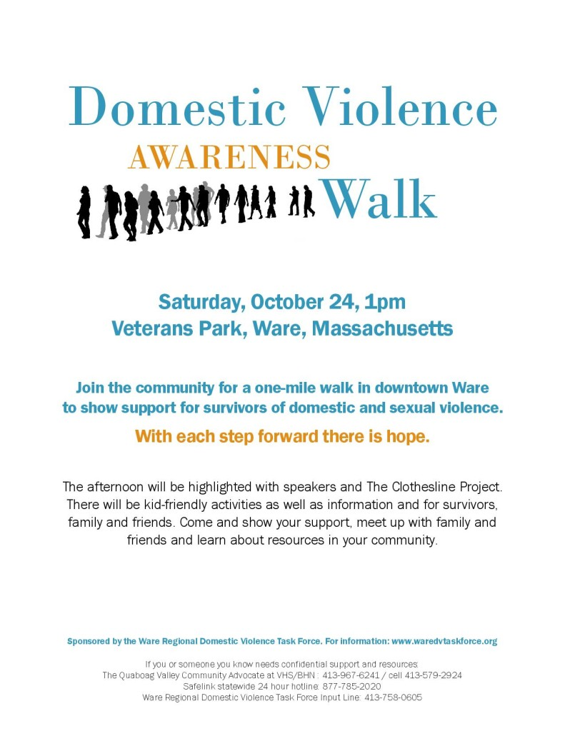 Domestic Violence Awareness Walk